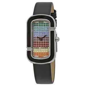 The Jacobs Rainbow Pave Crystal Dial Ladies Watch